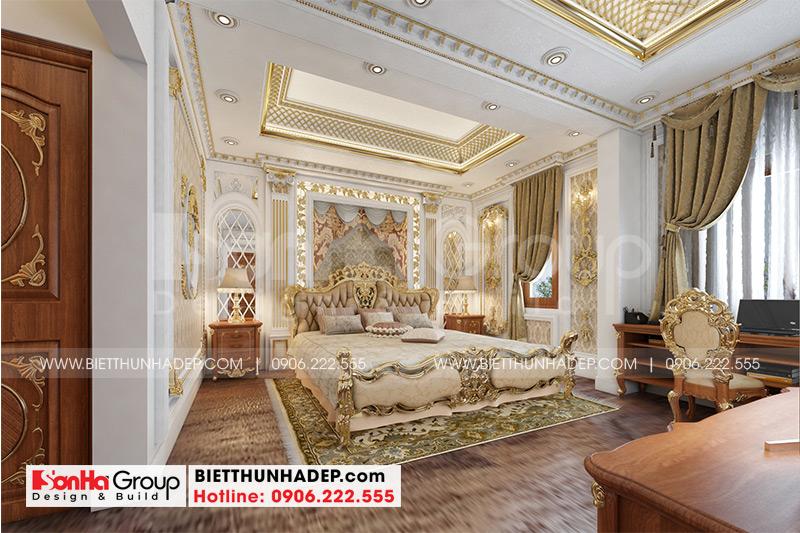 Căn phòng ngủ dành cho vợ chồng gia chủ với kiểu dáng đơn giản, đầy đủ chức năng sinh hoạt tiện ích khiến ai cũng hài lòng