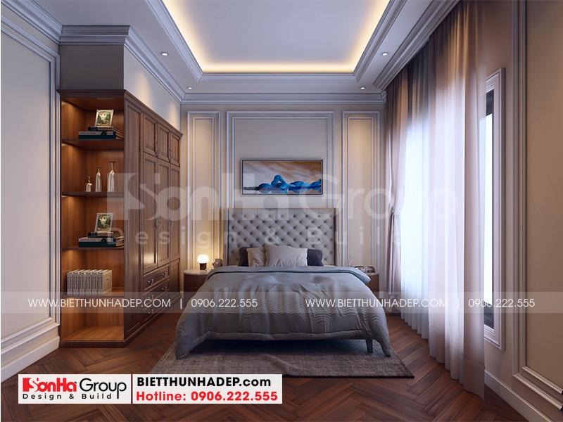 Mẫu nội thất phòng ngủ giúp việc tại tầng 4 ngôi biệt thự