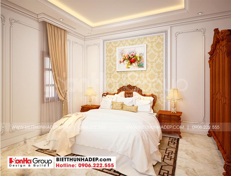 Thiết kế phòng ngủ đẹp phong cách tân cổ điển với đường nét tinh tế