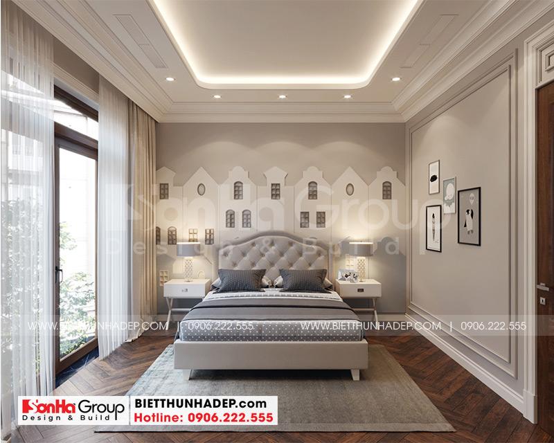 Mẫu phòng ngủ đẹp với gam màu tinh tế hợp thời dành cho con trai gia chủ