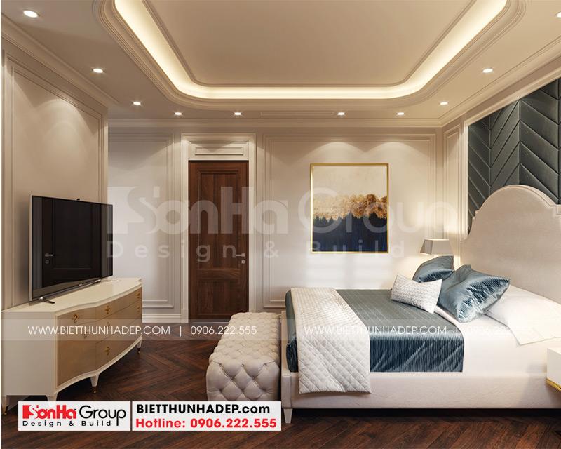 Nội thất phòng ngủ được bày trí hợp phong thủy, tinh tế nhất, đáp ứng nguyện vọng sử dụng được thoải mái, ngăn nắp