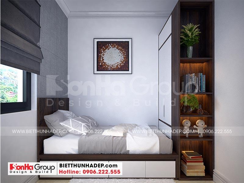 Thiết kế nội thất phòng ngủ giúp việc đẹp, ngăn nắp tại tầng 1 ngôi biệt thự