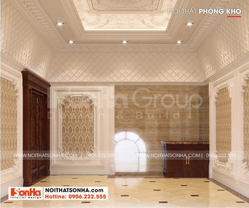 Thiết kế nội thất phòng kho rộng rãi cho nhà biệt thự lâu đài tại Hà Nội