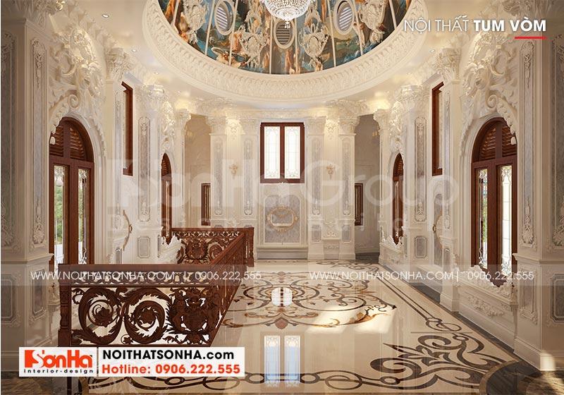 Thiết kế nội thất tum vòm biệt thự lâu đài kiểu cổ điển tại Hà Nội