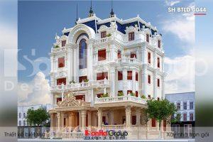 BÌA kiến trúc biệt thự lâu đài cổ điển 5 tầng mặt tiền 23,5m tại vũng tàu sh btld 0044