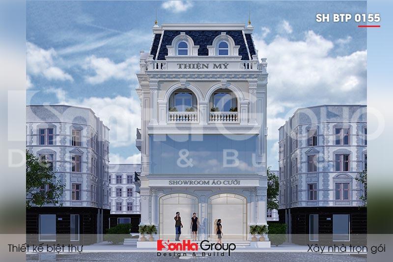 BÌA biệt thự tân cổ điển 3 tầng kết hợp kinh doanh tại hải phòng sh btp 0155