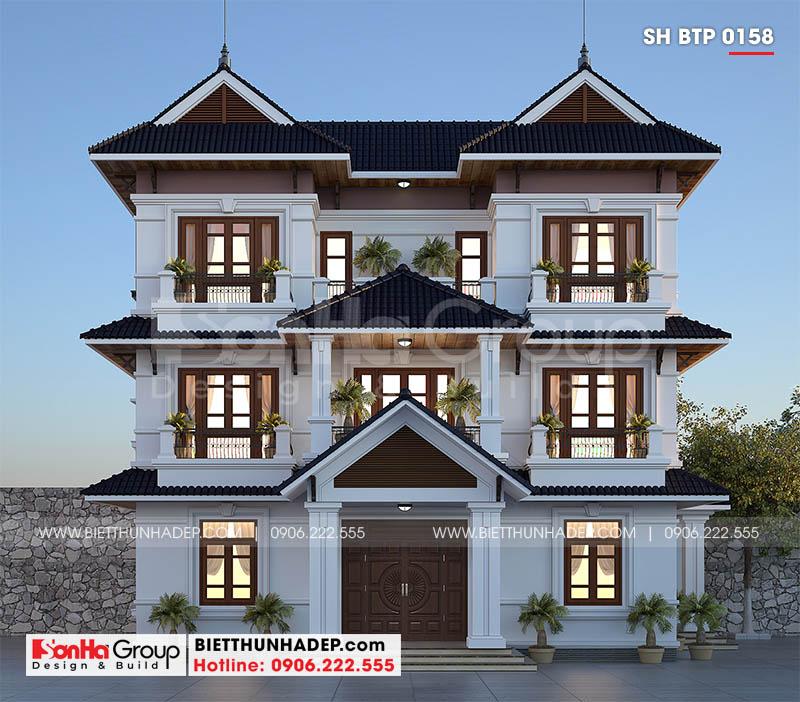 Mẫu biệt thự đẹp 3 tầng hiện đại nổi bật với gam màu tinh tế và ấn tượng