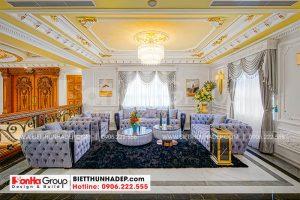 13.Mẫu thiết kế phòng khách trên lầu theo phong cách tân cổ hiện đại tại sài gòn sh btp 0081