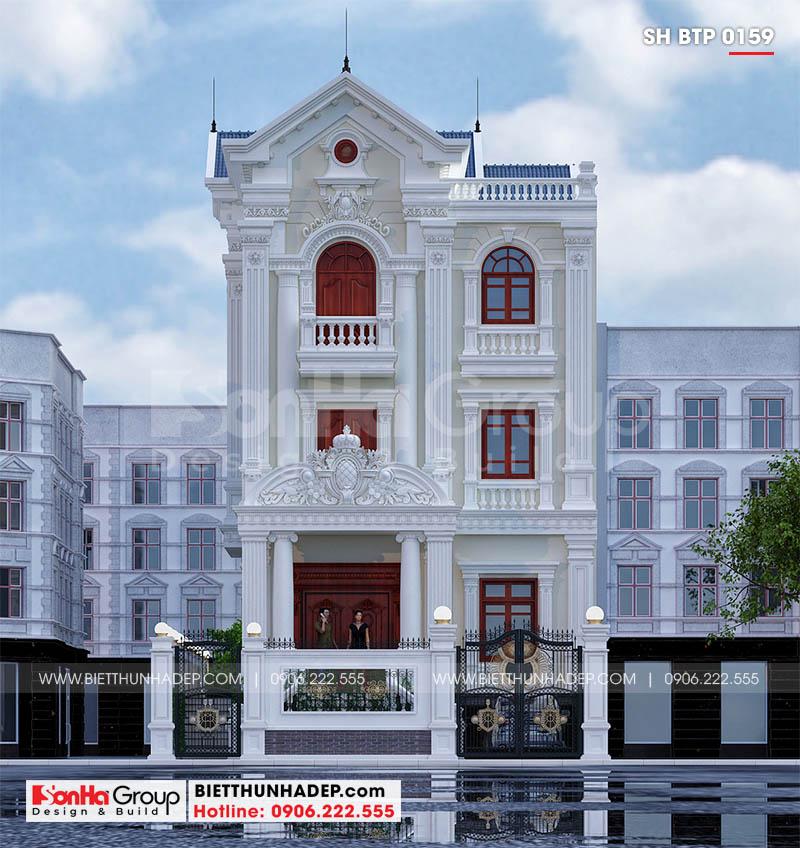 Mẫu biệt thự tân cổ điển 3 tầng tại Sài Gòn