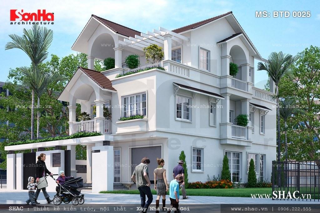 biệt thự hiện đại 3 tầng đẹp tại Quảng Ninh BTD 0025