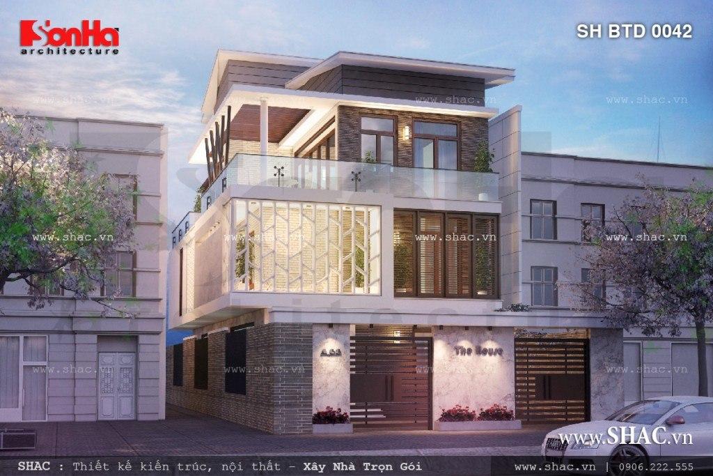 biệt thự hiện đại 3 tầng tại Hải Phòng