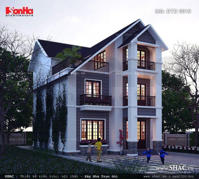 Mẫu thiết kế biệt thự hiện đại 3 tầng tại TP.Uông Bí, Quảng Ninh với đường nét kiến trúc khoáng đạt khỏe khoắn