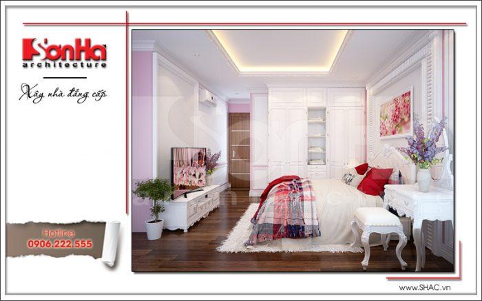Mẫu nội thất phòng ngủ đẹp trẻ trung hiện đại sh btp 0048