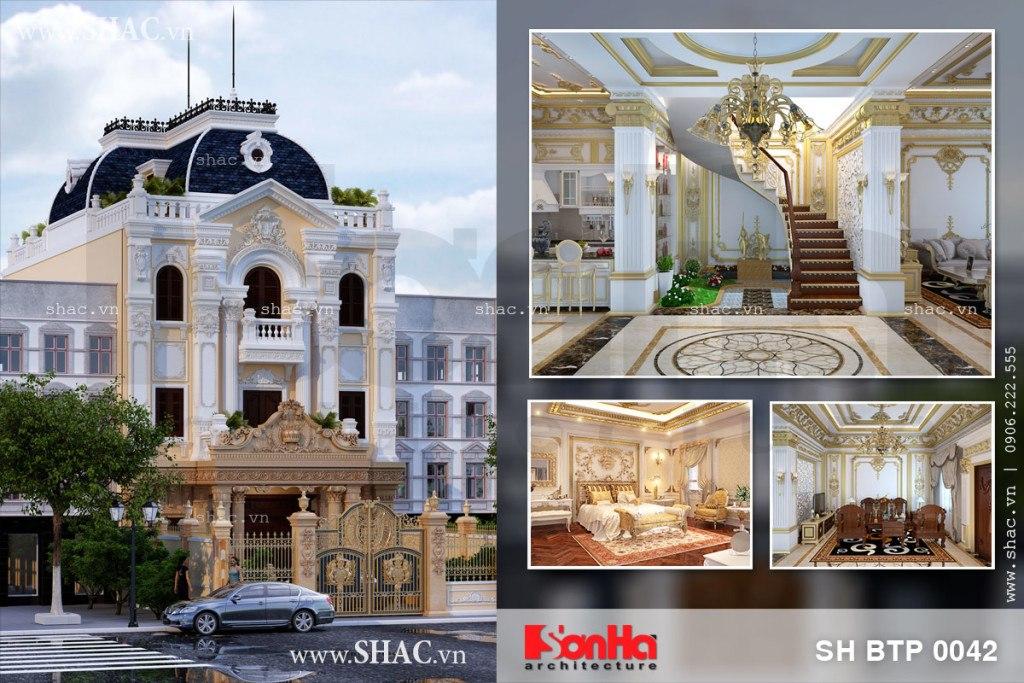 Biệt thự 3 tầng mặt tiền 10m với nội thất đẳng cấp sh btp 0042 tại Hà Nội