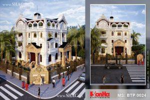 Kiến trúc biệt thự Pháp đẹp tại Hà Đông - Hà Nội