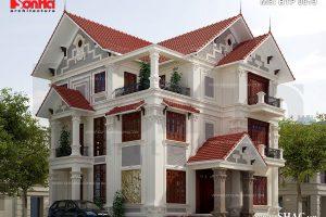 Mẫu biệt thự kiến trúc Pháp 3 tầng tại Quảng Ninh