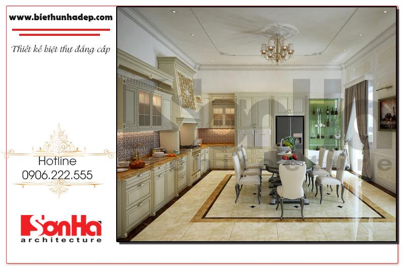thiết kế nội thất phòng bếp cố điển tại Đồng Nai