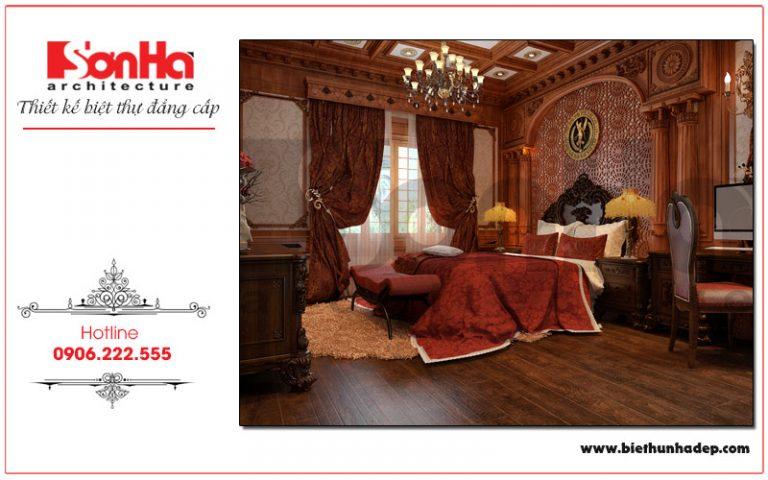 Mẫu thiết kế phòng ngủ biệt thự cổ điển ấn tượng, độc đáo tại Hải Phòng