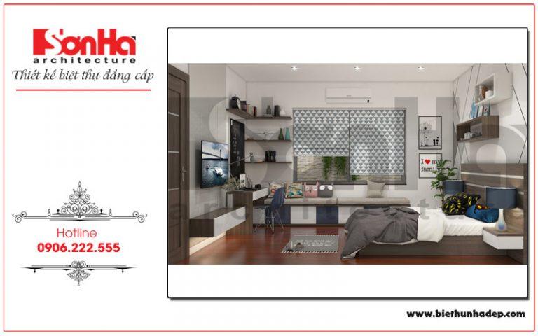 Thiết kế phòng ngủ với nội thất phù hợp với sở thích và cá tính của con trai gia chủ