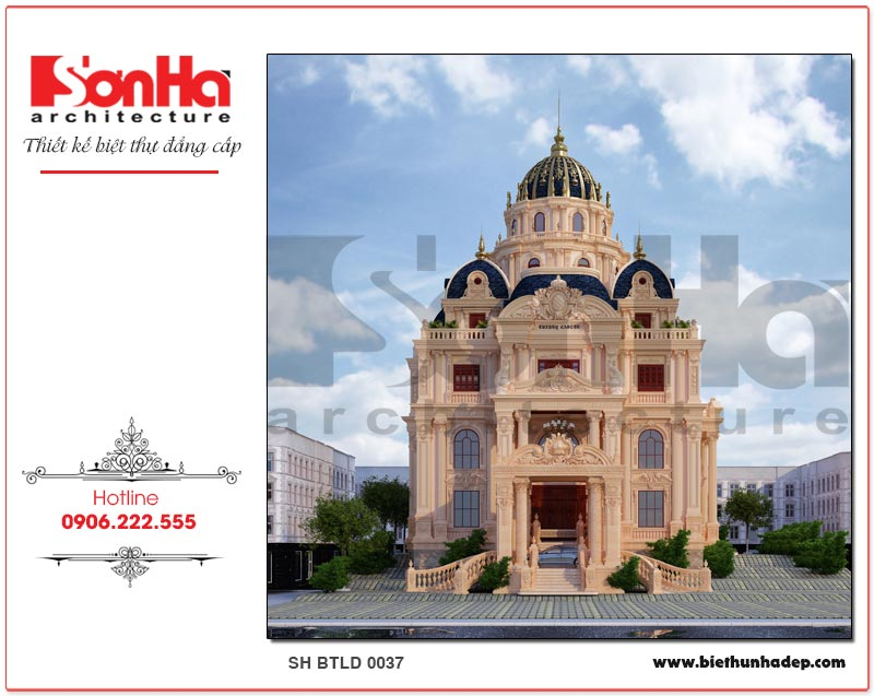 Kiến trúc ngoại thất ngôi biệt thự lâu đài phong cách cổ điển châu Âu ấn tượng tại Sài Gòn