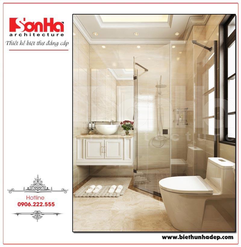 Mẫu nội thất phòng tắm – WC biệt tân cổ điển đẹp
