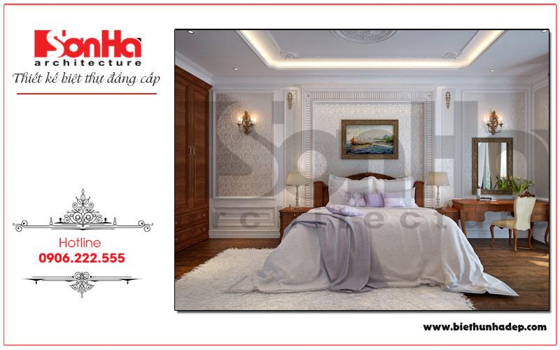 Thiết kế nội thất phòng ngủ bố mẹ với phong cách tân cổ điển mang đến không gian lãng mạn, nhẹ nhàng