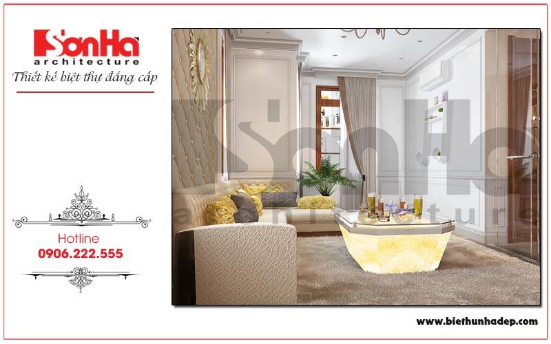 Phương án thiết kế nội thất phòng sinh hoạt chung biệt thự tân cổ điển phân khu Manhattan tại Vinhomes Imperia