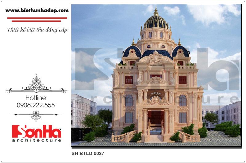 BÌA kiến trúc biệt thự lâu đài cổ điển 4 tầng đẹp tại sài gòn sh btld 0037