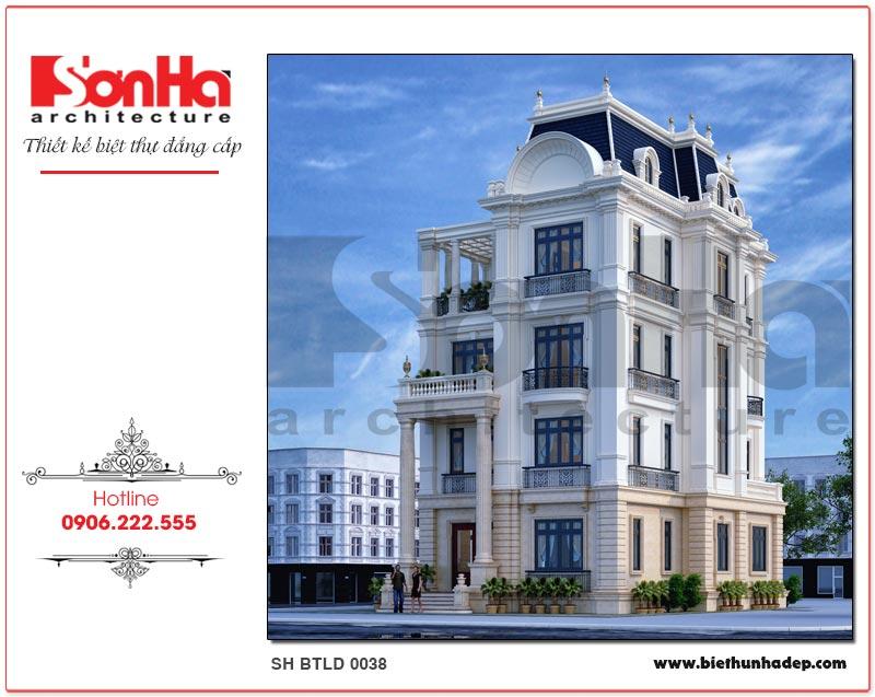 Mẫu biệt thự lâu đài châu Âu 4 tầng 2 mặt tiền sang trọng, tinh tế tại Đà Nẵng