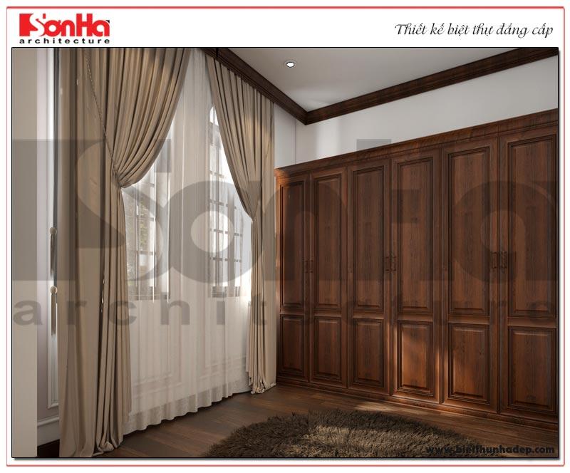 Thiết kế nội thất phòng thay đồ biệt thự tân cổ điển 3 tầng KĐT Vinhomes Imperia
