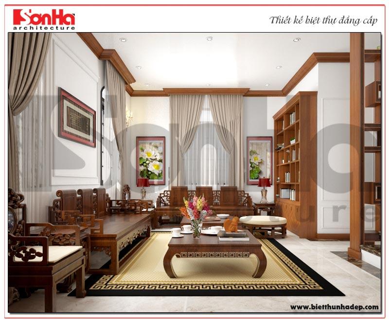 Ý tưởng thiết kế nội thất phòng truyền thống biệt thự 3 tầng Vinhomes Imperia