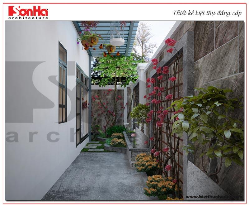 Góc tiểu cảnh sân vườn biệt thự tân cổ điển khiến chủ đầu tư vô cùng thích thú