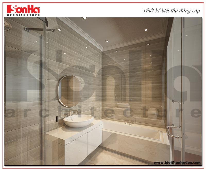 Mẫu phòng tắm và nhà vệ sinh biệt thự với thiết bị cao cấp