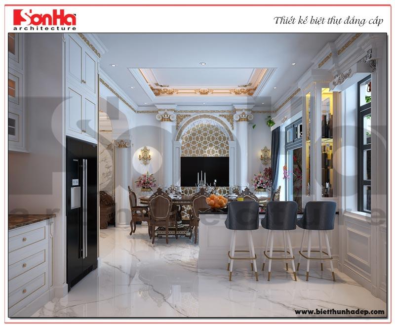 Thiết kế nội thất phòng ăn biệt thự tân cổ điển tại KĐT Vinhomes Imperia Hải Phòng