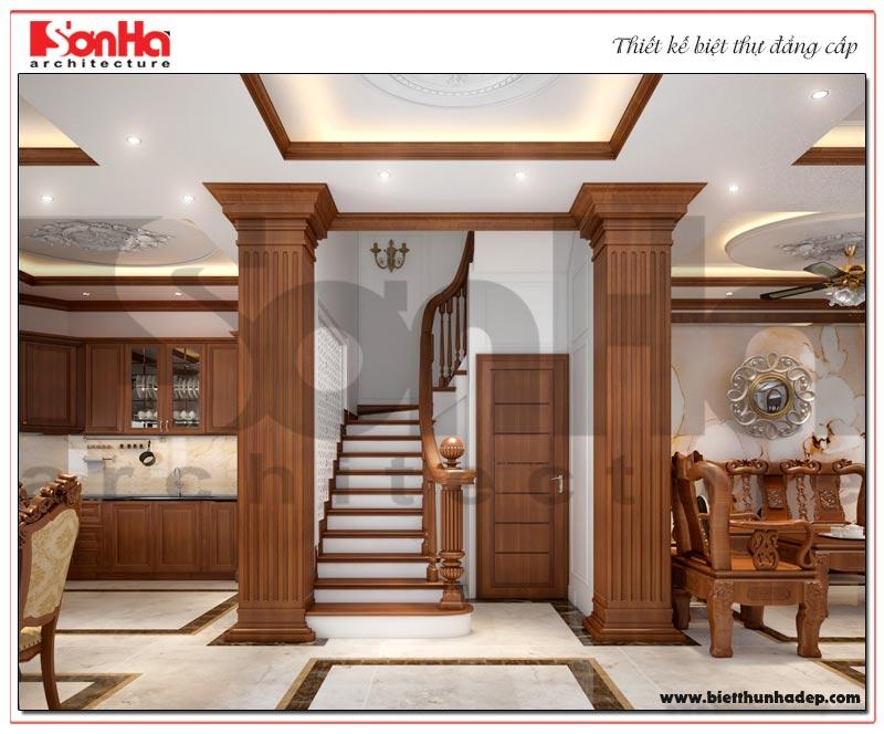 Phương án thiết kế sảnh thang biệt thự tân cổ điển Vinhomes Imperia Hải Phòng