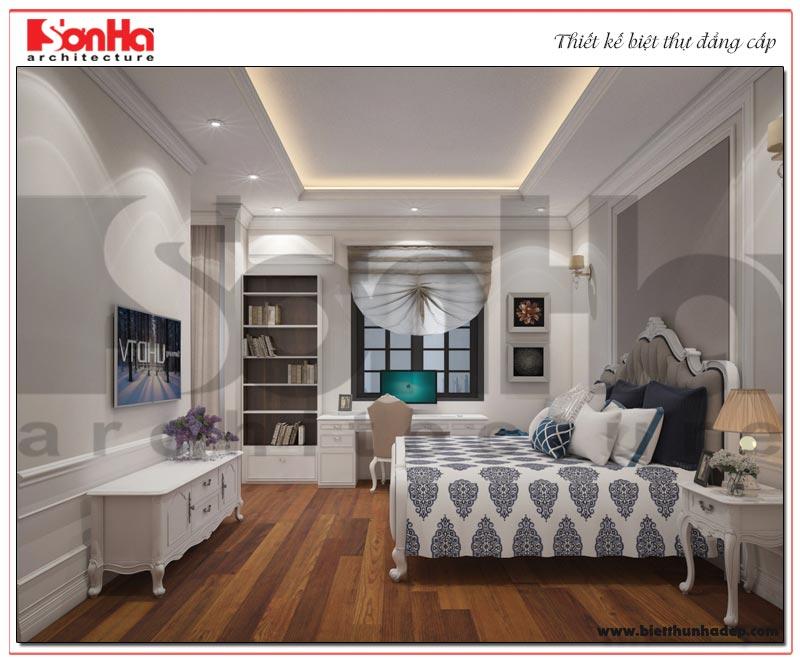 Ý tưởng thiết kế phòng ngủ biệt thự với nội thất tân cổ điển nhẹ nhàng