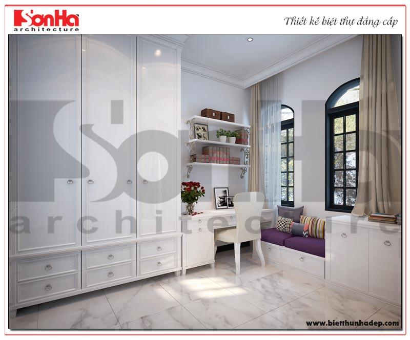 Ý tưởng thiết kế nội thất phòng ngủ biệt thự Vinhomes Imperia tân cổ điển