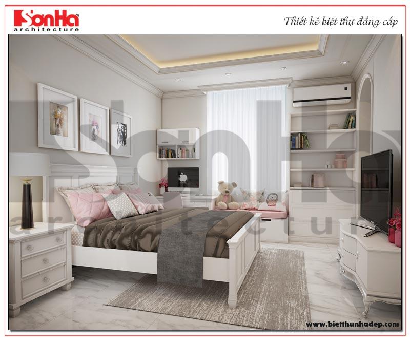 Phương án thiết kế, trang trí không gian phòng ngủ biệt thự tân cổ điển – phân khu Paris