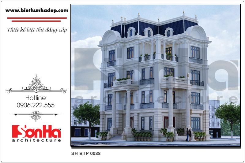 BÌA thiết kế biệt thự lâu đài kiến trúc pháp tại đà nẵng sh btld 0038