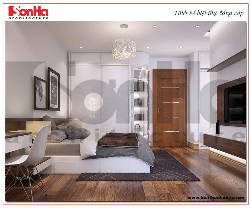 Nội thất căn phòng ngủ được bố trí khoa học mang đến cho chủ nhân không gian nghỉ ngơi lý tưởng nhất