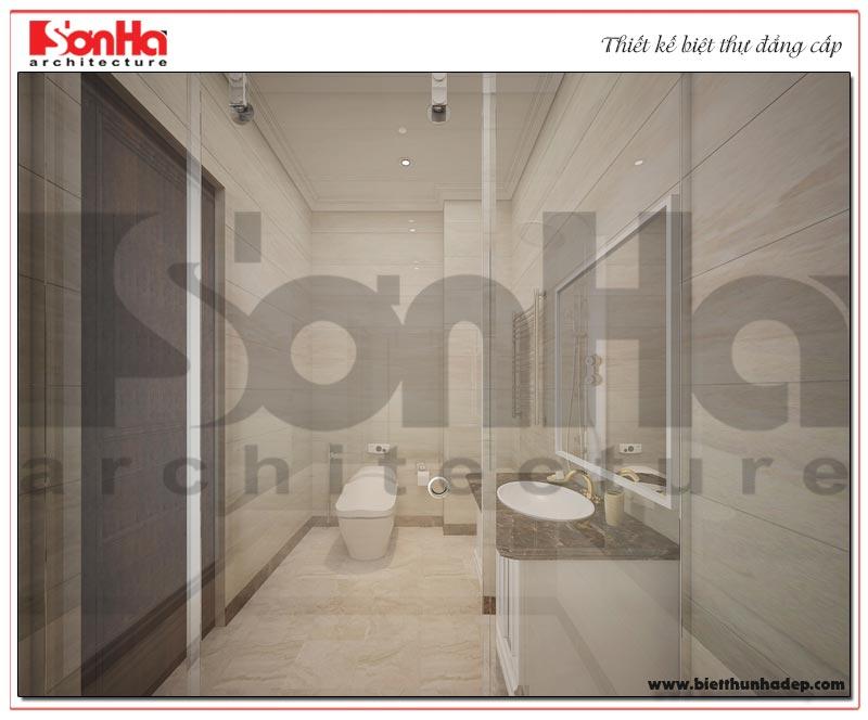 Thiết kế nội thất phòng tắm – nhà vệ sinh biệt thự Vinhoms Imperia Hải Phòng