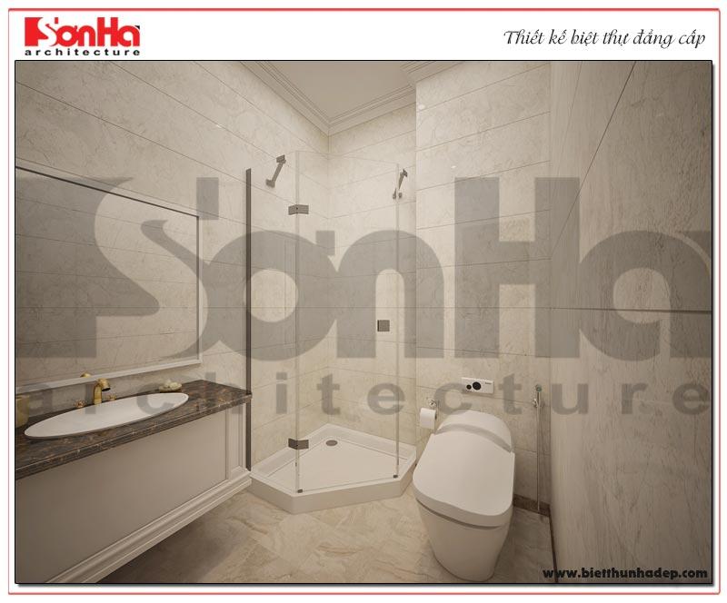 Mẫu nội thất phòng tắm – WC biệt thự Vinhoms Imperia với thiết bị cao cấp