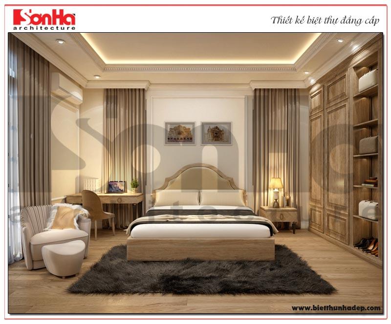 Mẫu nội thất phòng ngủ thiết kế đẹp dành cho biệt thự tân cổ điển phân khu Paris