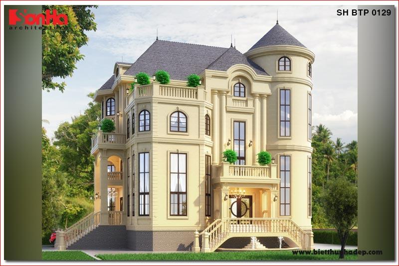BÌA thiết kế biệt thự tân cổ điển 4 tầng 2 mặt tiền tại hà nội sh btp 0129
