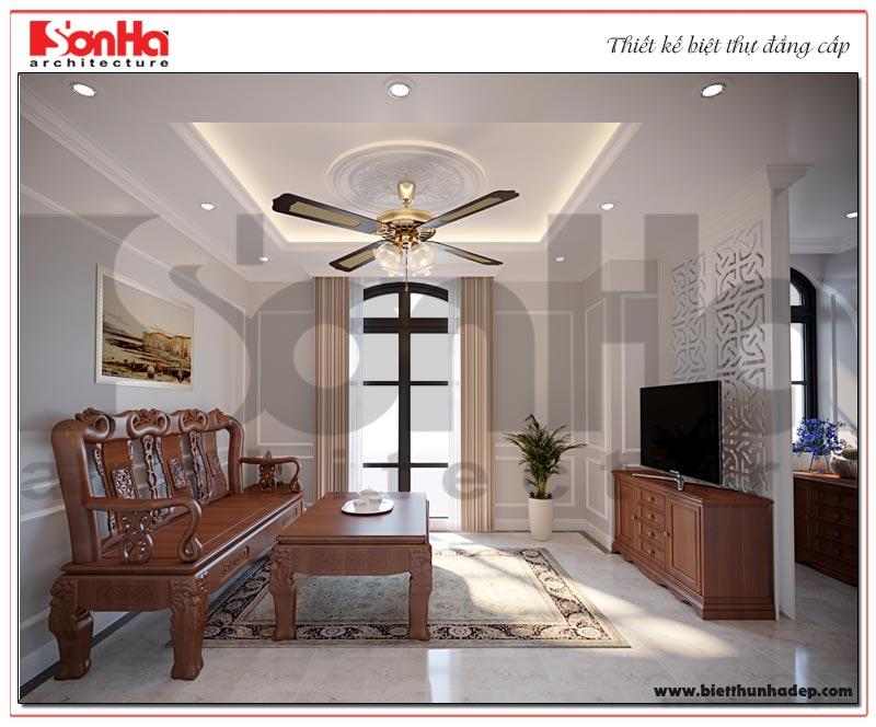Phòng sinh hoạt chung được thiết kế như một ốc đảo bình yên của cả gia đình