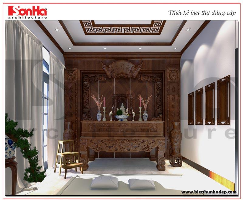 Không gian thờ cúng tâm linh được gai chủ chủ đầu tư thiết kế trang nghiêm