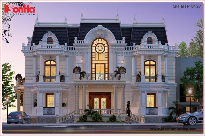 BÌA biệt thự cổ điển kiểu pháp đẹp 3 tầng tại đức sh btp 0137