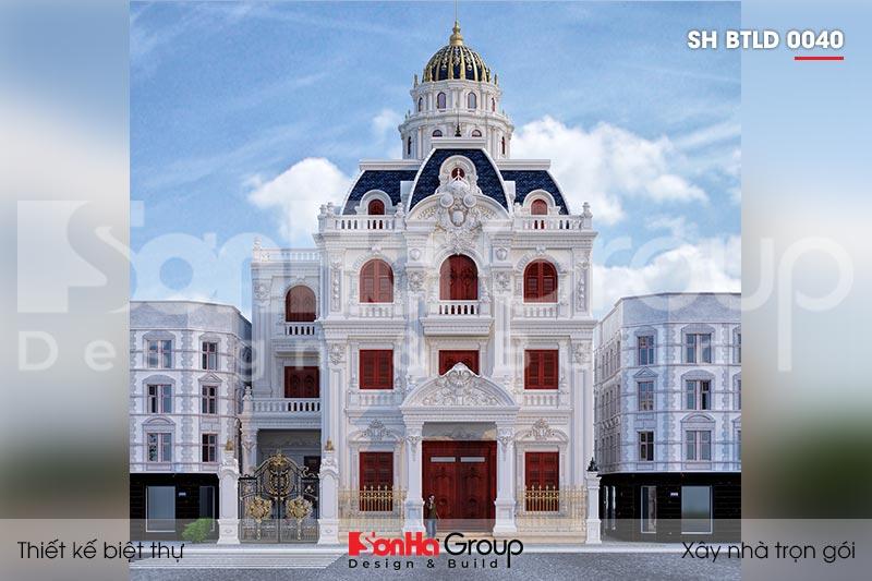 BÌA biệt thự lâu đài kiểu pháp 3 tầng 1 tum tại hà nội sh btld 0040