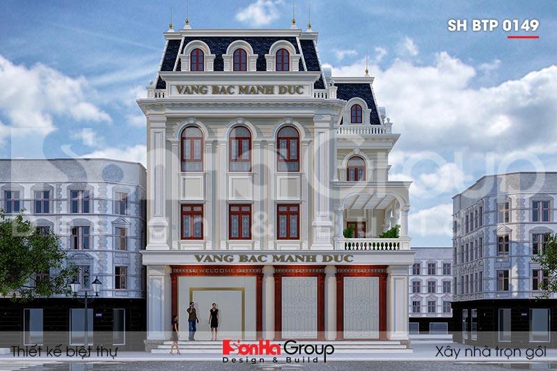 BÌA kiến trúc biệt thự tân cổ điển 3 tầng mặt tiền 15m tại hải phòng sh btp 0149