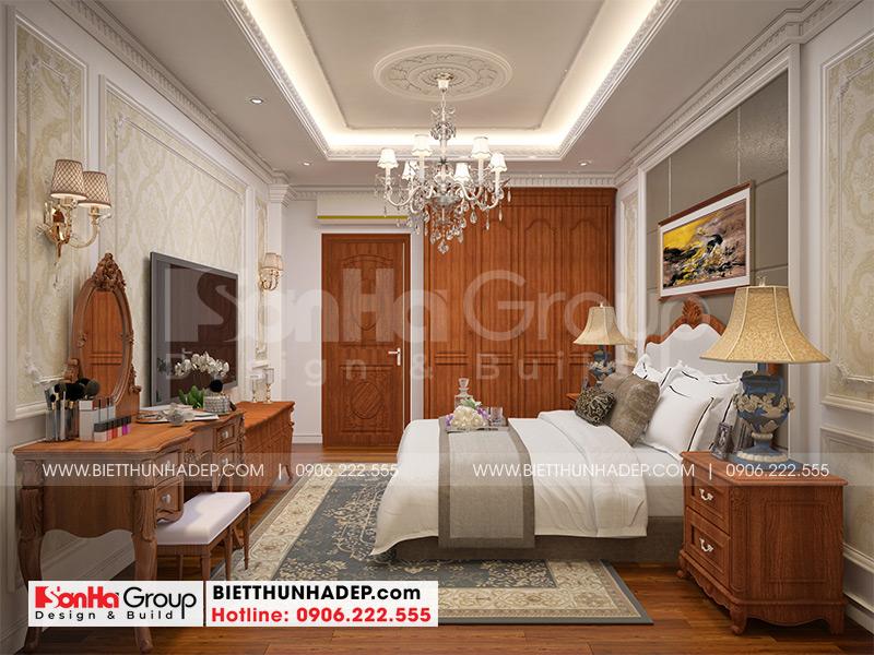 Ý tưởng thiết kế phòng ngủ tân cổ điển tiện nghi có nội thất đẹp đậm chất cổ điển theo đúng nguyện vọng của chủ đầu tư